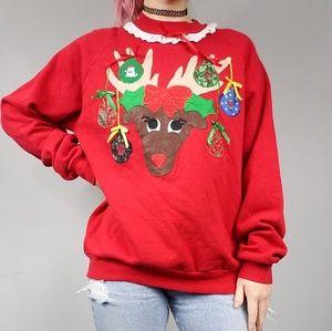 VTG Christmas Reindeer Sweatshirt